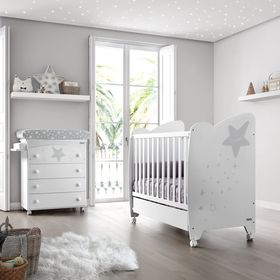 Кровать Micuna Estela 120*60 white/grey